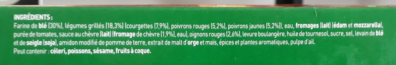 BUITONI FOUR A PIERRE Pizza Chèvre Légumes - Ingrédients - fr