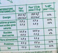 BUITONI FOUR A PIERRE Pizza Bœuf Bolognaise - Informations nutritionnelles - fr