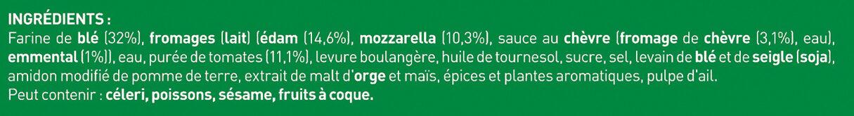 BUITONI FOUR A PIERRE Pizza 4 Fromages - Ingrédients - fr