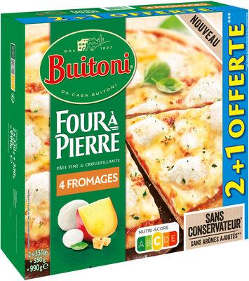 BUITONI FOUR A PIERRE pizza surgelée 4 Fromages MAXI 3X330g - Produit - fr