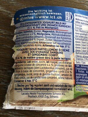 LC1 Orange sanguine - gingembre - Ingrediënten