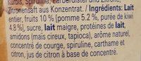 Hirz Yogourt Pommes Thurgoviennes et Kiwis Vaudois Nestlé - Ingrédients