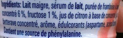 Yaourt à Boire Framboise - Ingrediënten - fr