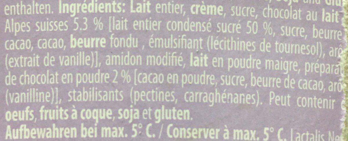 Crème dessert chocolat - Ingredients - fr