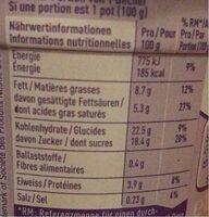 Crème dessert chocolat - Nutrition facts - fr