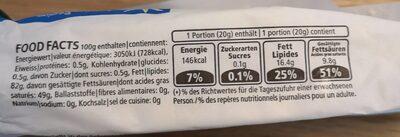 Beurre de choix de montagne - Valori nutrizionali - fr
