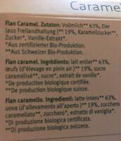Flan caramel - Ingredients