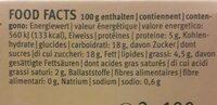 Flan caramel - Nutrition facts