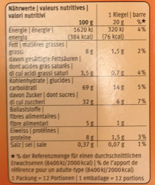 Farmer Soft Cannelle - Nutrition facts