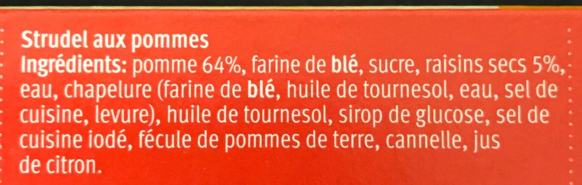 Strudel aux pommes - Ingredients - fr