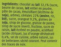 Soft Choc Orange - Ingrédients - fr