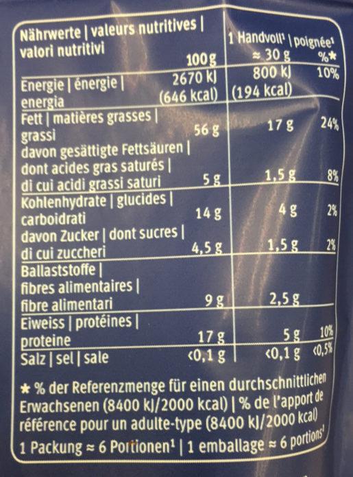 Mélange de Noix de Qualité - Informations nutritionnelles - fr