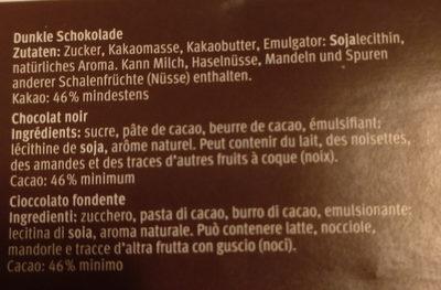 Chocolat de ménage - Ingredients