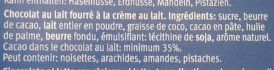 Quadretti - Ingrediënten - fr