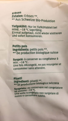 Petits pois suisses - Ingrédients