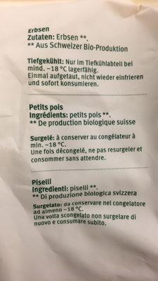Petits pois suisses - Ingredients
