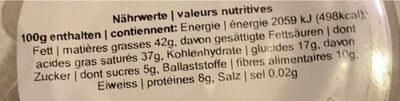 kokosnuss - Nutrition facts - fr