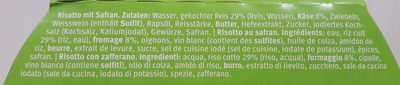Risotto Milanese - Anna's Best - 365 G - Ingredients - fr