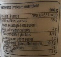 Fresh Dip Tartare - Voedingswaarden - fr