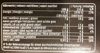 Pâtes fraîches aux oeufs farcies au fromage et au citron - Nutrition facts