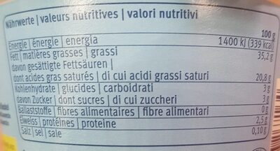 Creme Fraiche 35% - Voedingswaarden - de