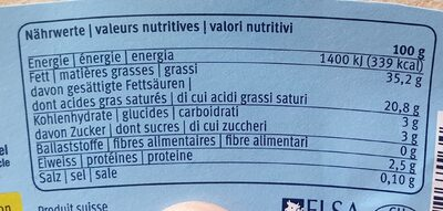 Creme Fraiche 35% - Nutrition facts - de
