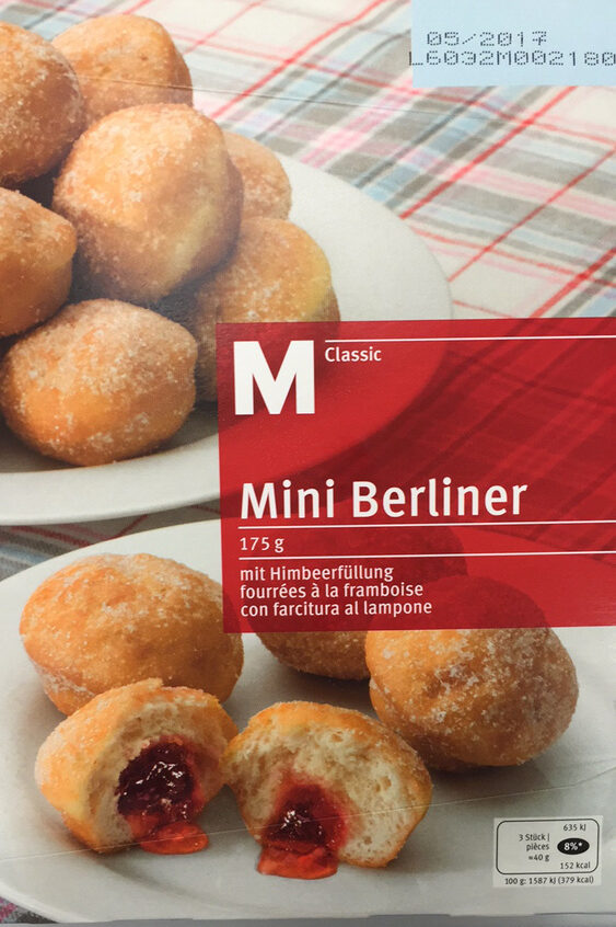 Mini Berliner fourrées à la framboise - Product - fr