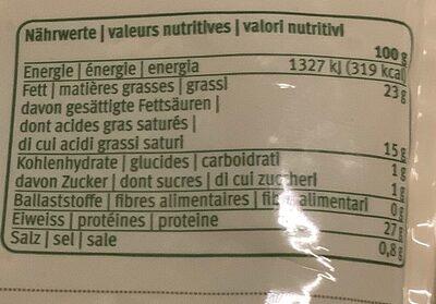 fromage râpé Pizza Gratin - Nutrition facts