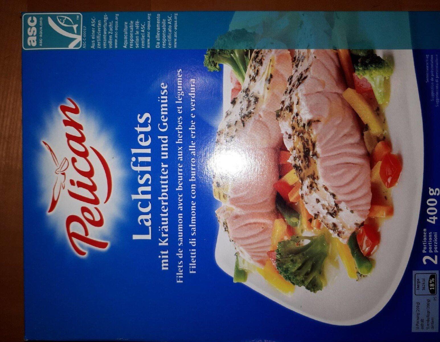 Filet de saumon avec beurre aux herbes et légumes - Product