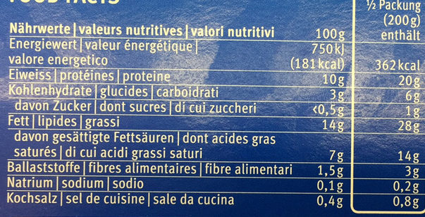 Filet de saumon avec beurre aux herbes et légumes - Nutrition facts