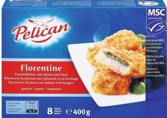 Bâtonnets de poisson aux épinards et au fromage - Product