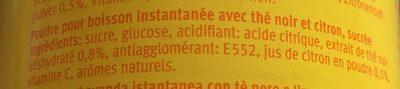 Thé au Citron - Ingrediënten - fr