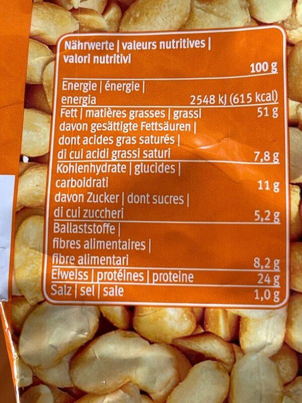 Nüsse: Erdnüsse gesalzen - Informations nutritionnelles - fr