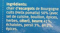 Escargots à la bourguignonne - Ingrédients