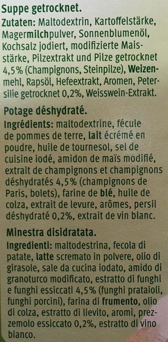 Champignons - Ingredienti - fr