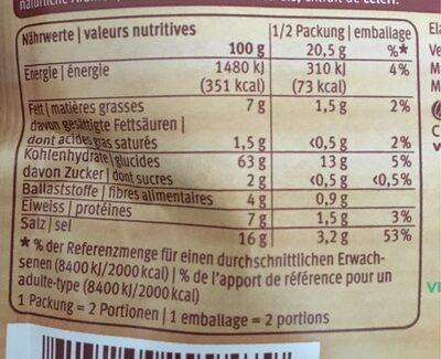 Mix pour gratin - Nutrition facts