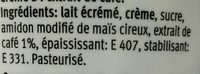Crème café - Ingredients - fr