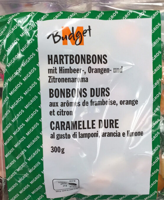 Bonbons durs aux arômes de framboise, orange et citron - Produit - fr