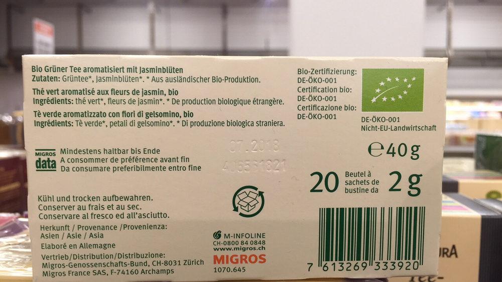 Thé vert - Ingredients - fr