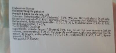 Toast garniture jambon - Ingredienti - fr