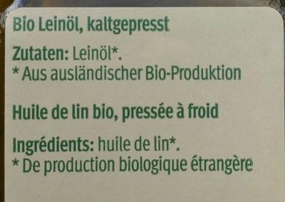 Leinöl kaltgepresst - Ingredients - de