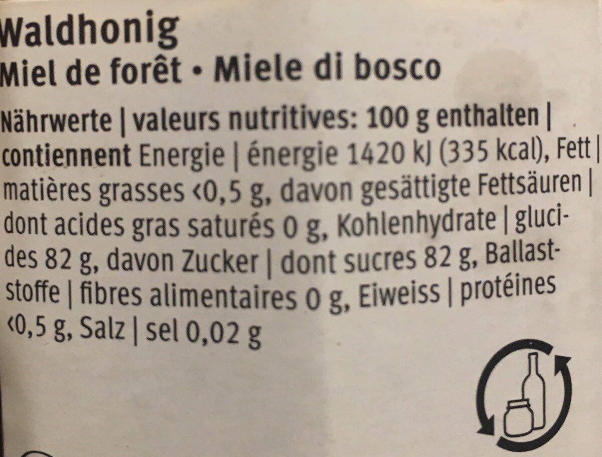 Miel de forêt - Ingrédients - fr
