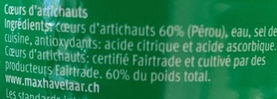 Coeurs d'artichauts - Ingredients