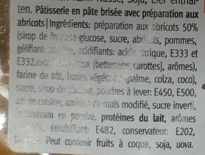 Tartelettes à l'abricot - Ingredients