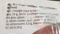 Mandoline choc - Informations nutritionnelles - fr