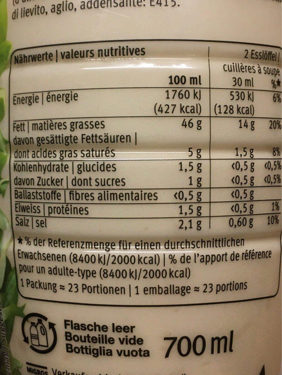 Ab French Ohne Kräuter 7DL - Nutrition facts - de