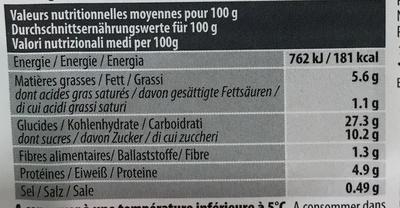 6 Crêpes Sucrées - Informations nutritionnelles - fr