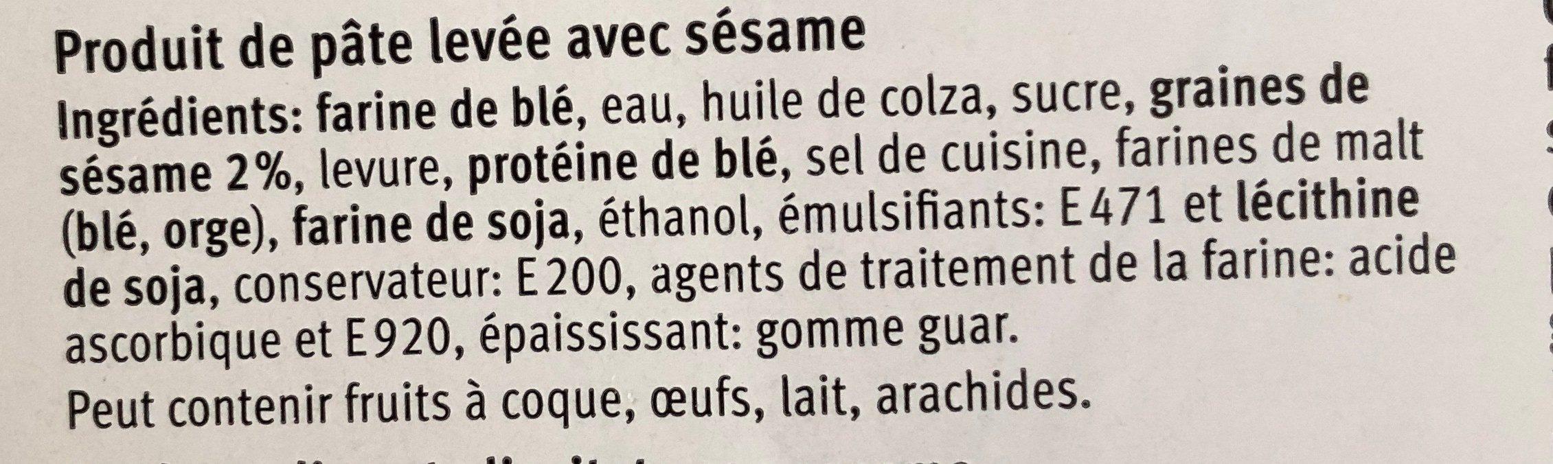 Bagel avec sésame - Ingrédients - fr