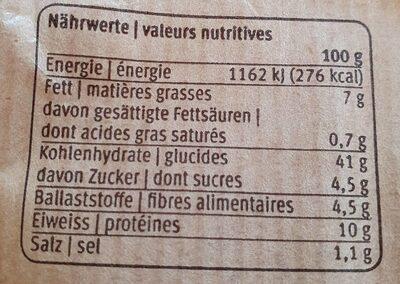 Happy bread aux noix - Informations nutritionnelles - fr