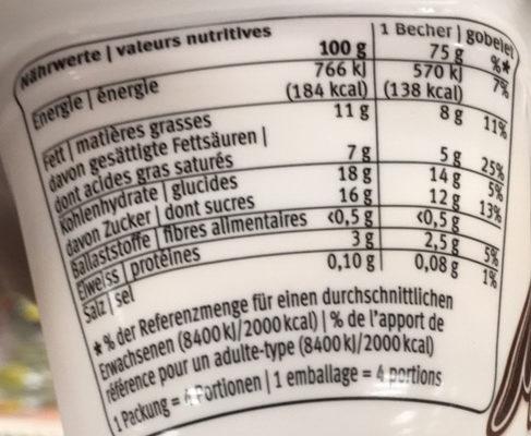 Milkiss Chocolat Noisette - Informations nutritionnelles - fr